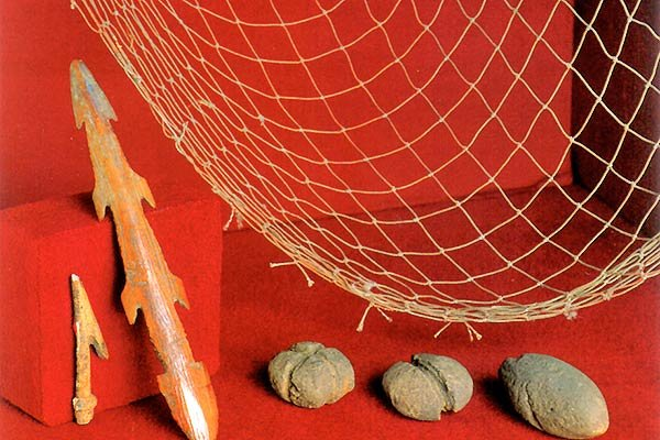 рыболовная сеть в музее